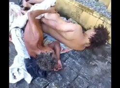 Mandingo brasil casal moradores de rua fodendo na calçada