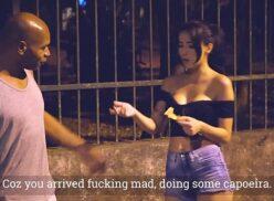 Novinha prostituta fazendo sexo com negão por 50 reais